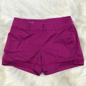 Ann Taylor City Short Purple Shorts 4P